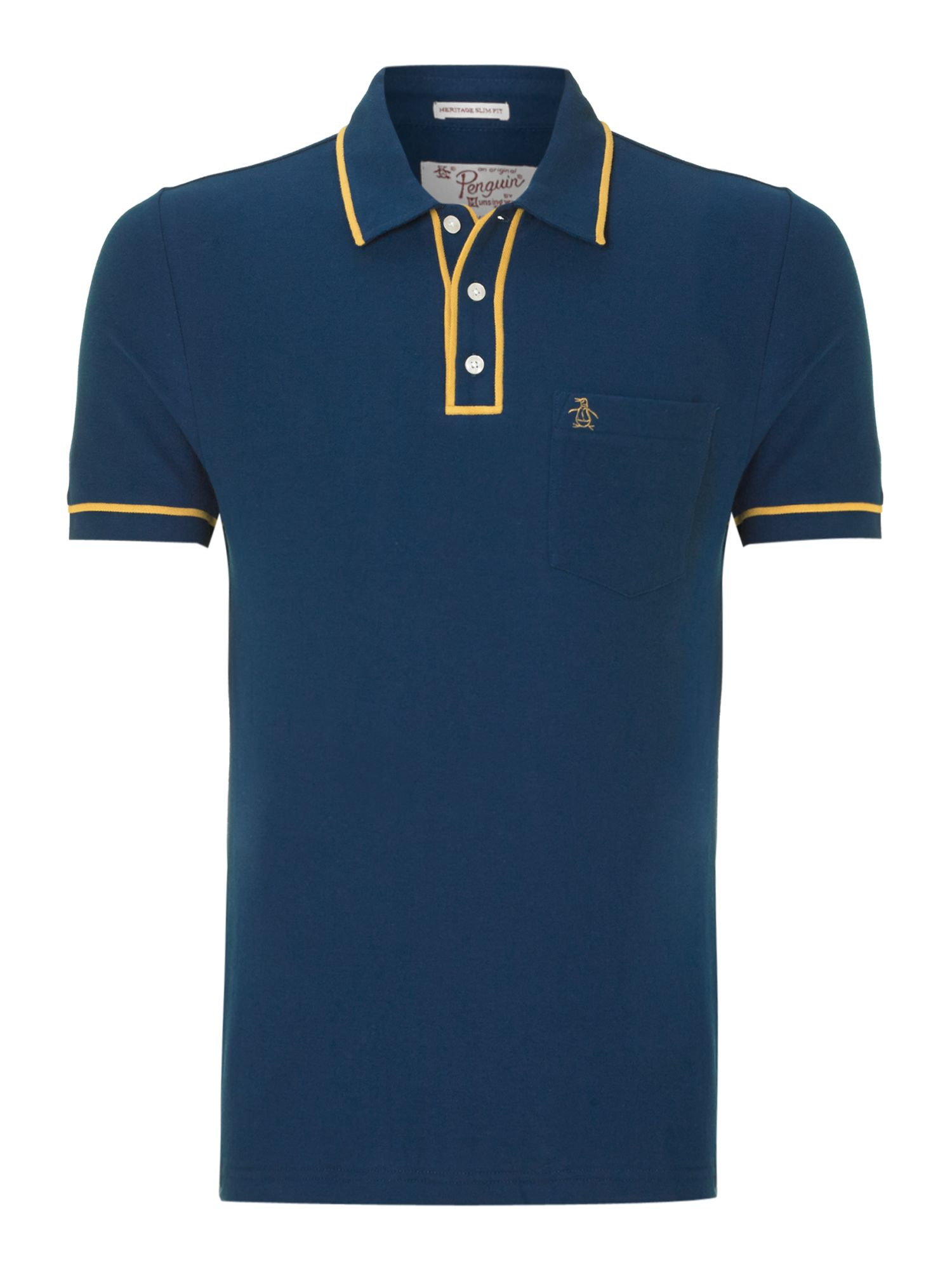 Original Penguin Earl Polo Shirt In Blue For Men Lyst