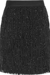 Reiss Treasure Beaded Fringe Skirt - Lyst