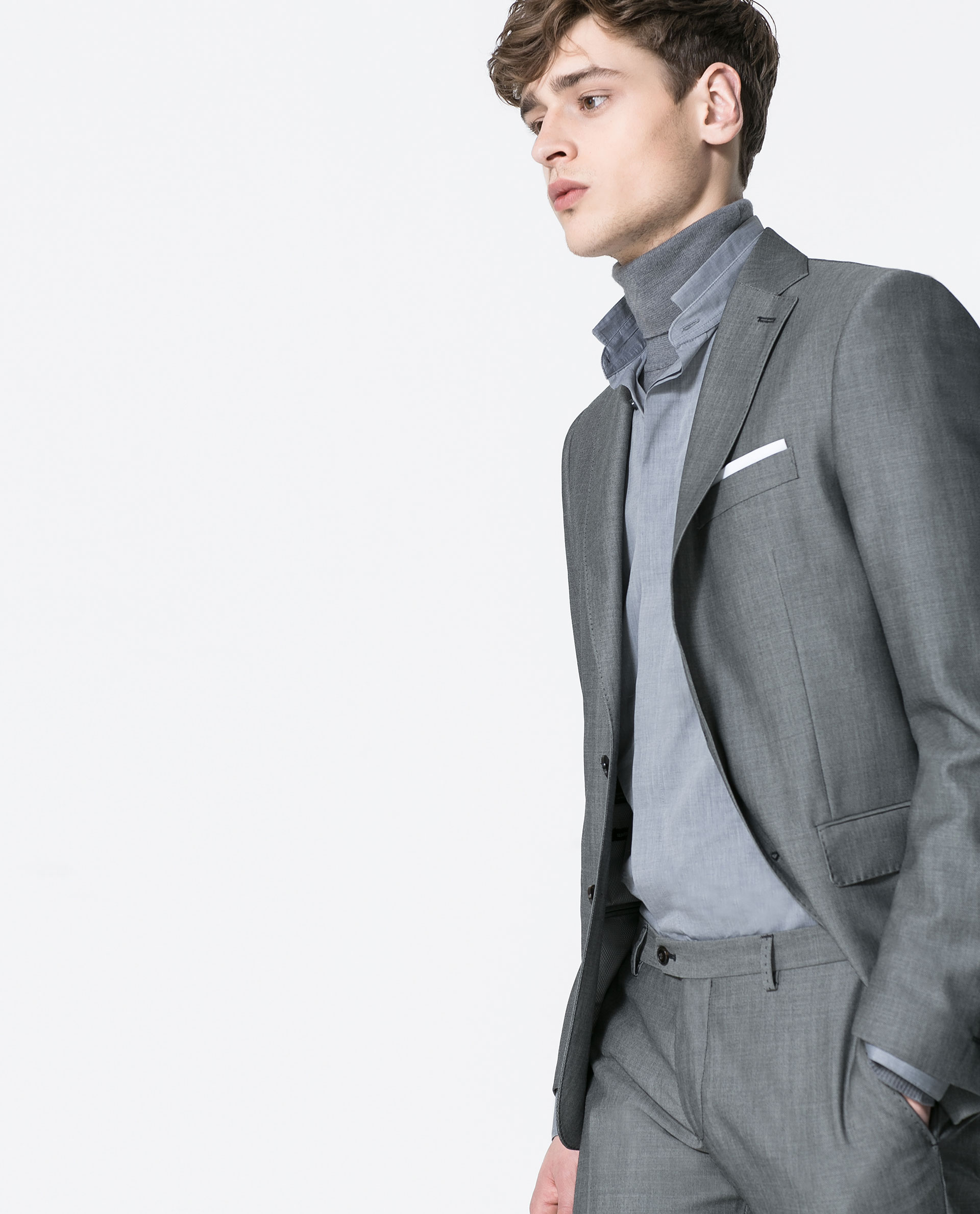 Zara Grey Suit Blazer in Gray for Men | Lyst