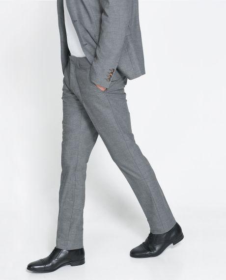 Zara Formal Trousers in Gray for Men (Grey) | Lyst