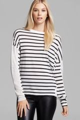 DKNY Drop Shoulder Crewneck Top - Lyst