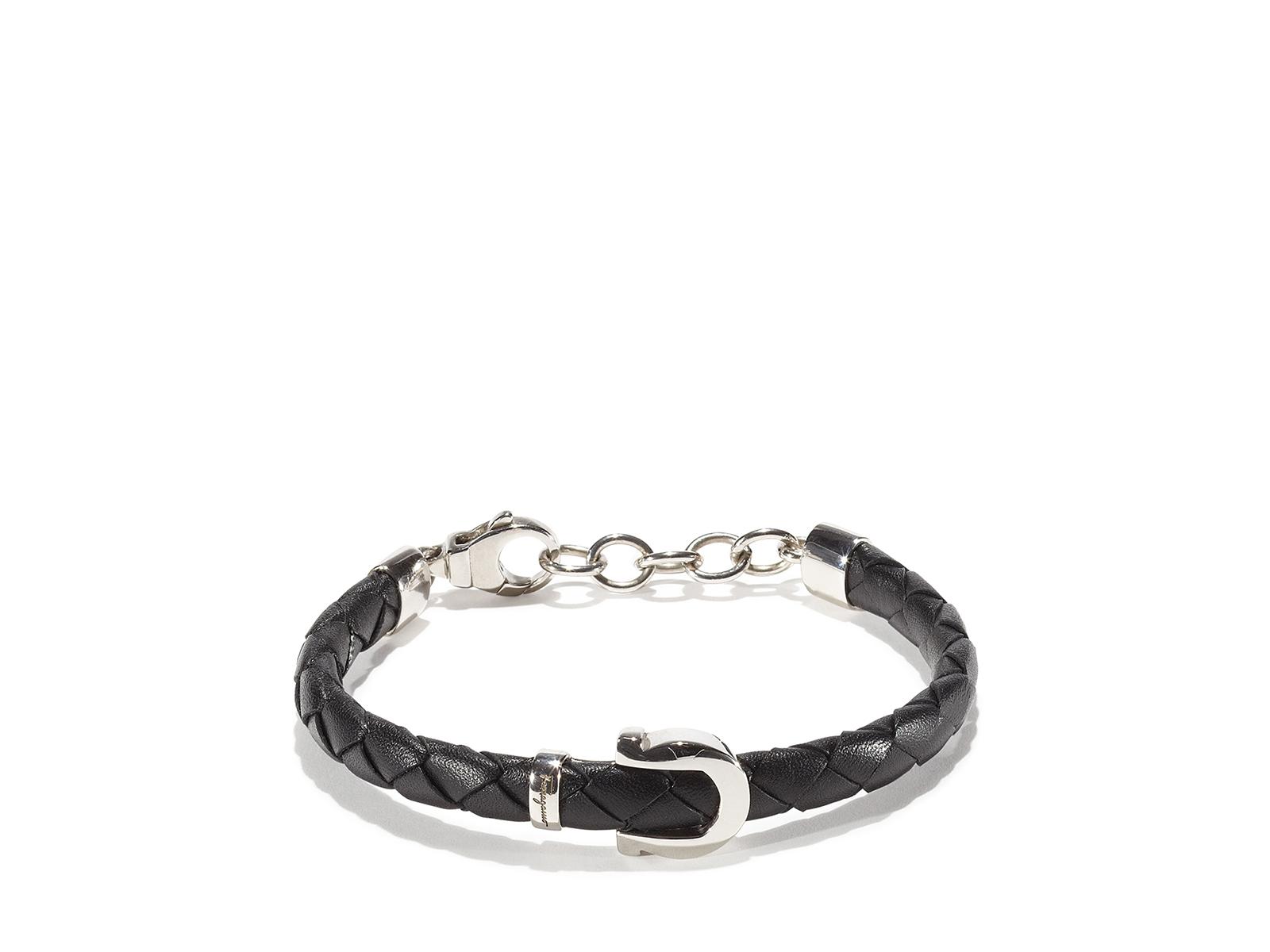 ferragamo bracelet in black for lyst