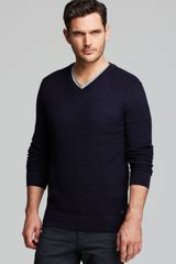 Hugo Boss Abbino V Neck Sweater - Lyst
