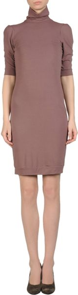Liu Jo Short Dress in Brown (Cocoa) - Lyst