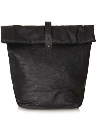 Topshop Croc Roll Top Backpack - Lyst