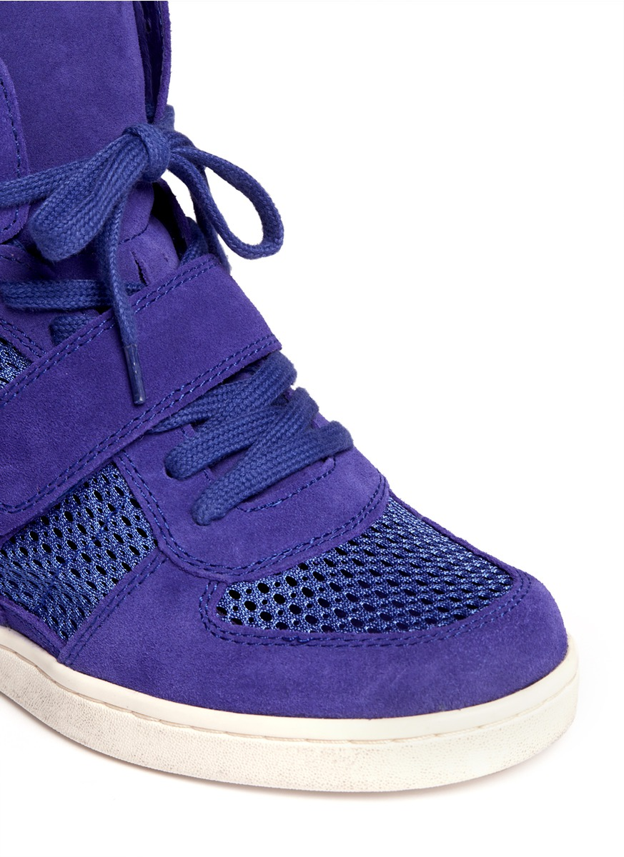 Blue Suede Shoes Sneaker Wedge