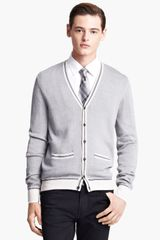 Burberry Silk Knit Cardigan - Lyst