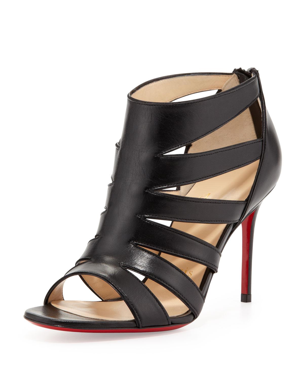 low priced e82ef 4ff72 Artesur » christian louboutin caged sandals Black suede