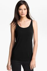 Eileen Fisher Scoop Neck Silk Camisole - Lyst