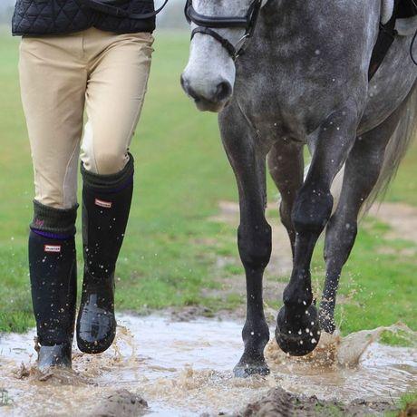 Hunter Balmoral Equestrian Neoprene In Black For Men Lyst