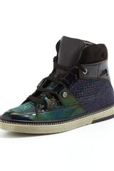Jimmy Choo Barlowe Glitter Patent Hightop Sneaker Purple Mix - Lyst