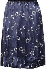 Marc Jacobs Daisyprint Satin Skirt - Lyst