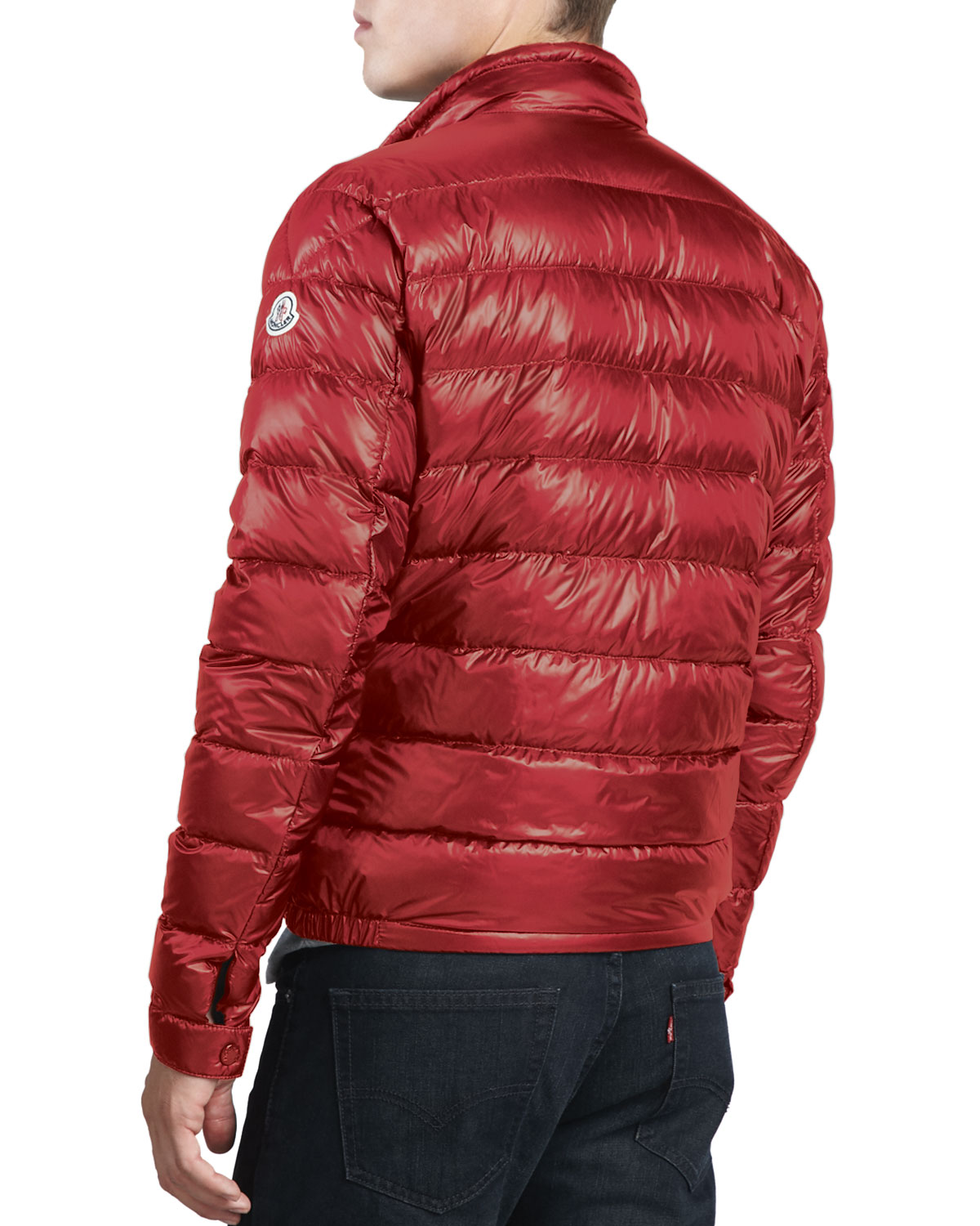 Moncler Vidal Quilted Shell Down Jacket In Red For Men Lyst