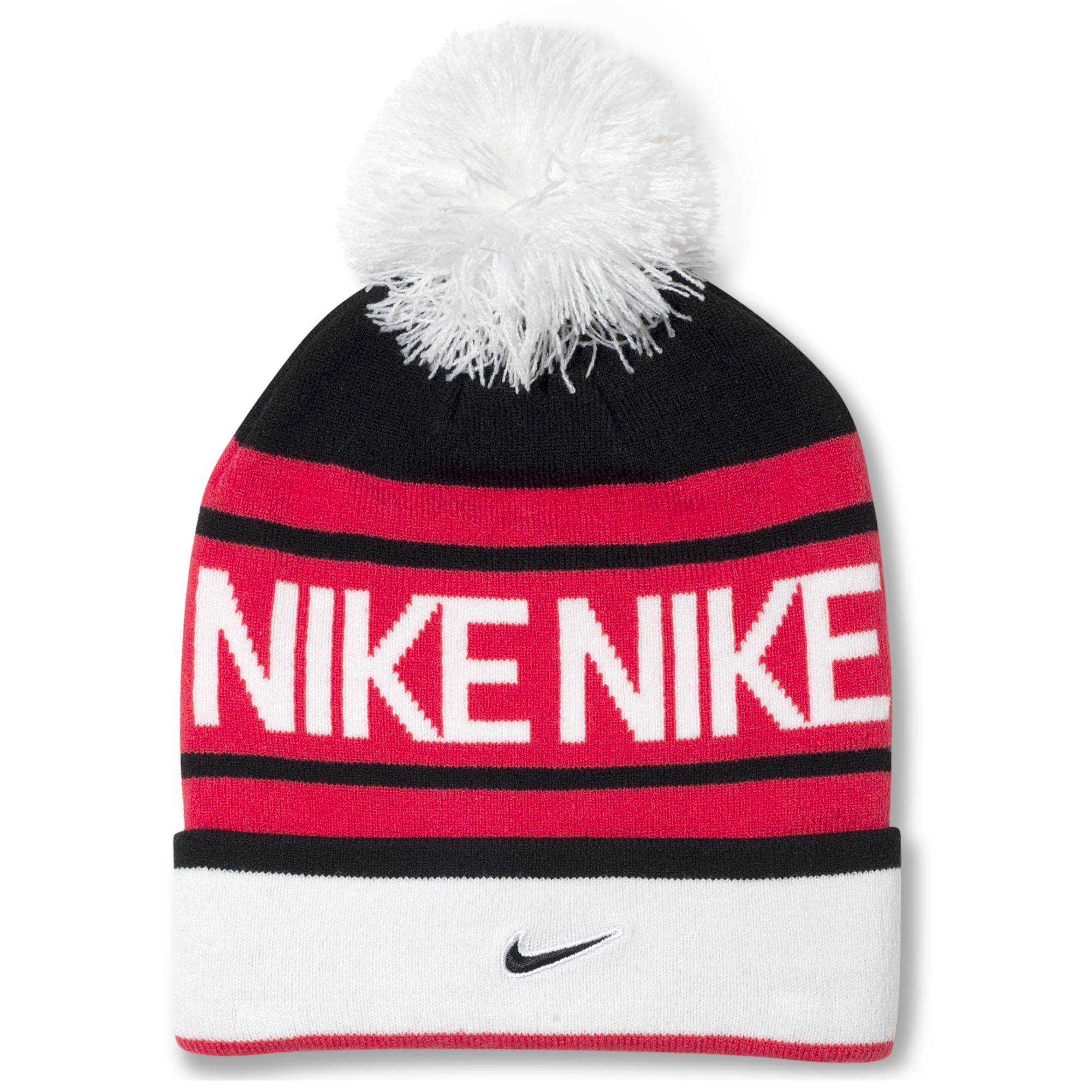 660806d5f66 ... shop lyst nike pom pom beanie in red for men 1db36 515e2 ...
