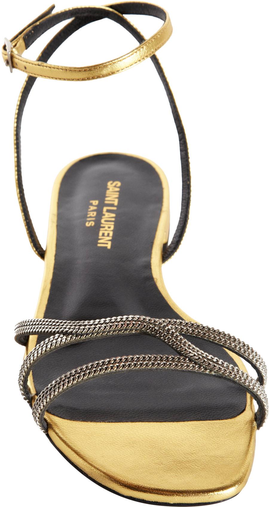 Saint Laurent Flat strappy sandals zd2HohSQJ