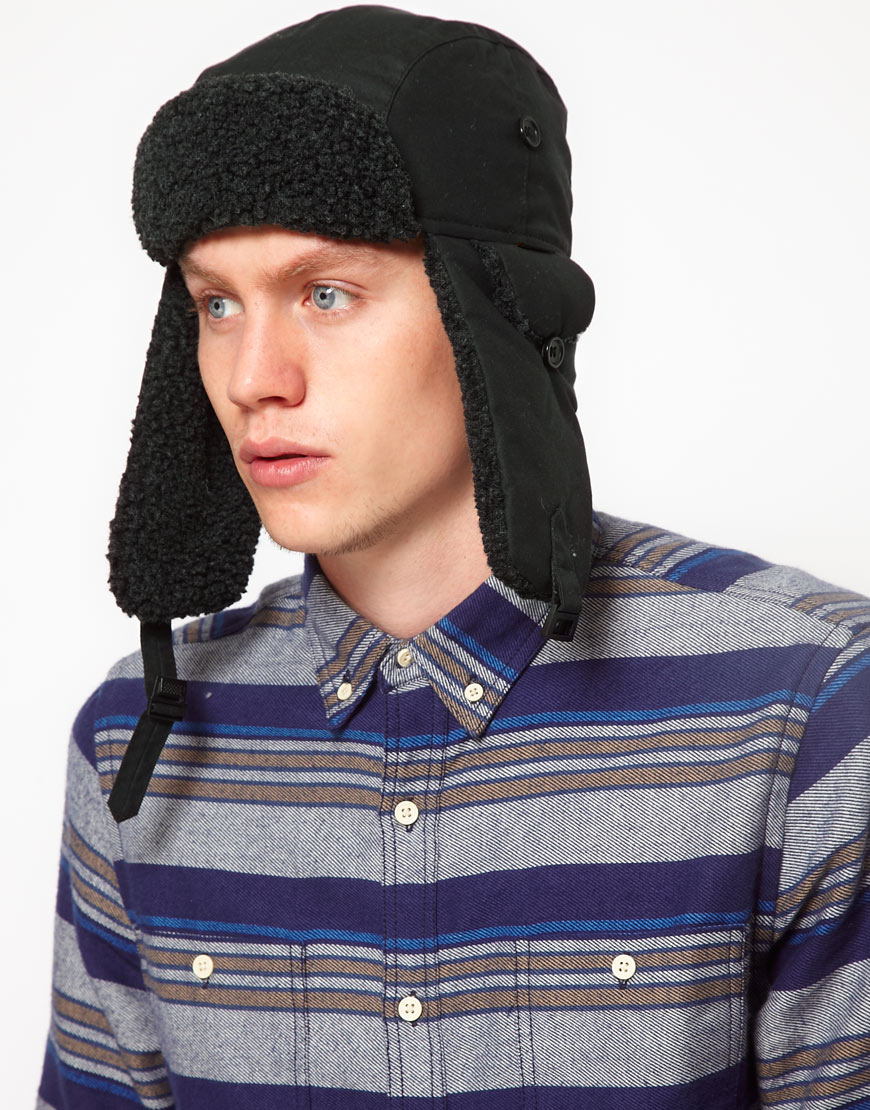 048bdd07caf Lyst - Sprayground Barbour Hunter Trapper Hat in Black for Men