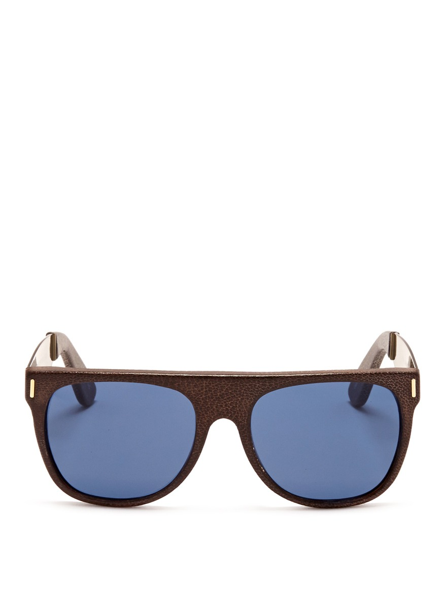 Glasses Leather Frame : Retrosuperfuture Flat Top Francis Leather Frame ...