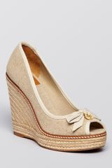 Tory Burch Jackie Platform Wedge Espadrille Pumps we