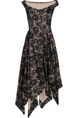 Vivienne Westwood Anglomania Saturday Asymmetric Lace Dress - Lyst