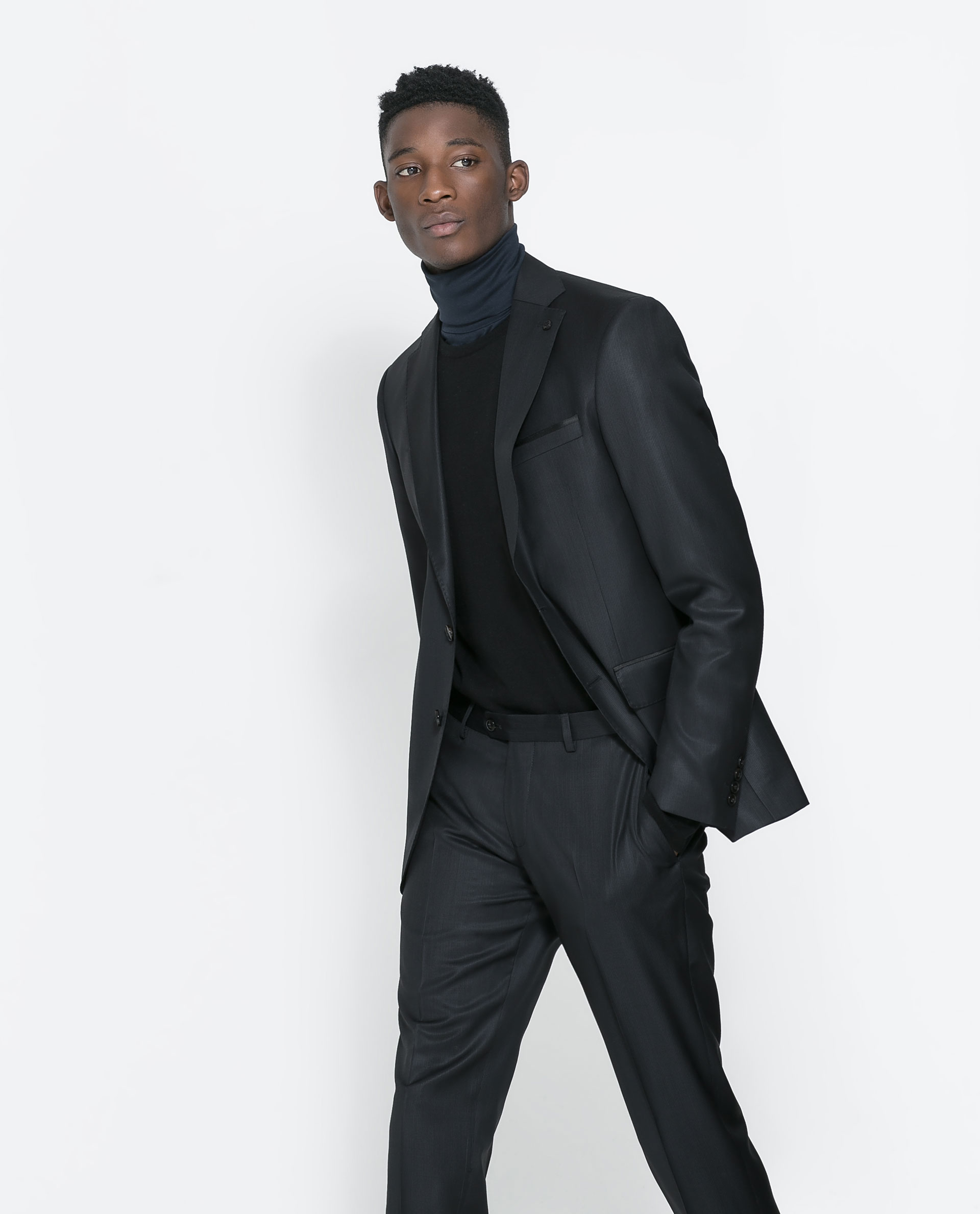 zara black suit trousers in black for men lyst. Black Bedroom Furniture Sets. Home Design Ideas