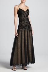 Aidan Mattox Beaded Dropwaist Gown - Lyst