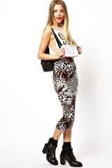 Asos Pencil Skirt in Leopard Print - Lyst