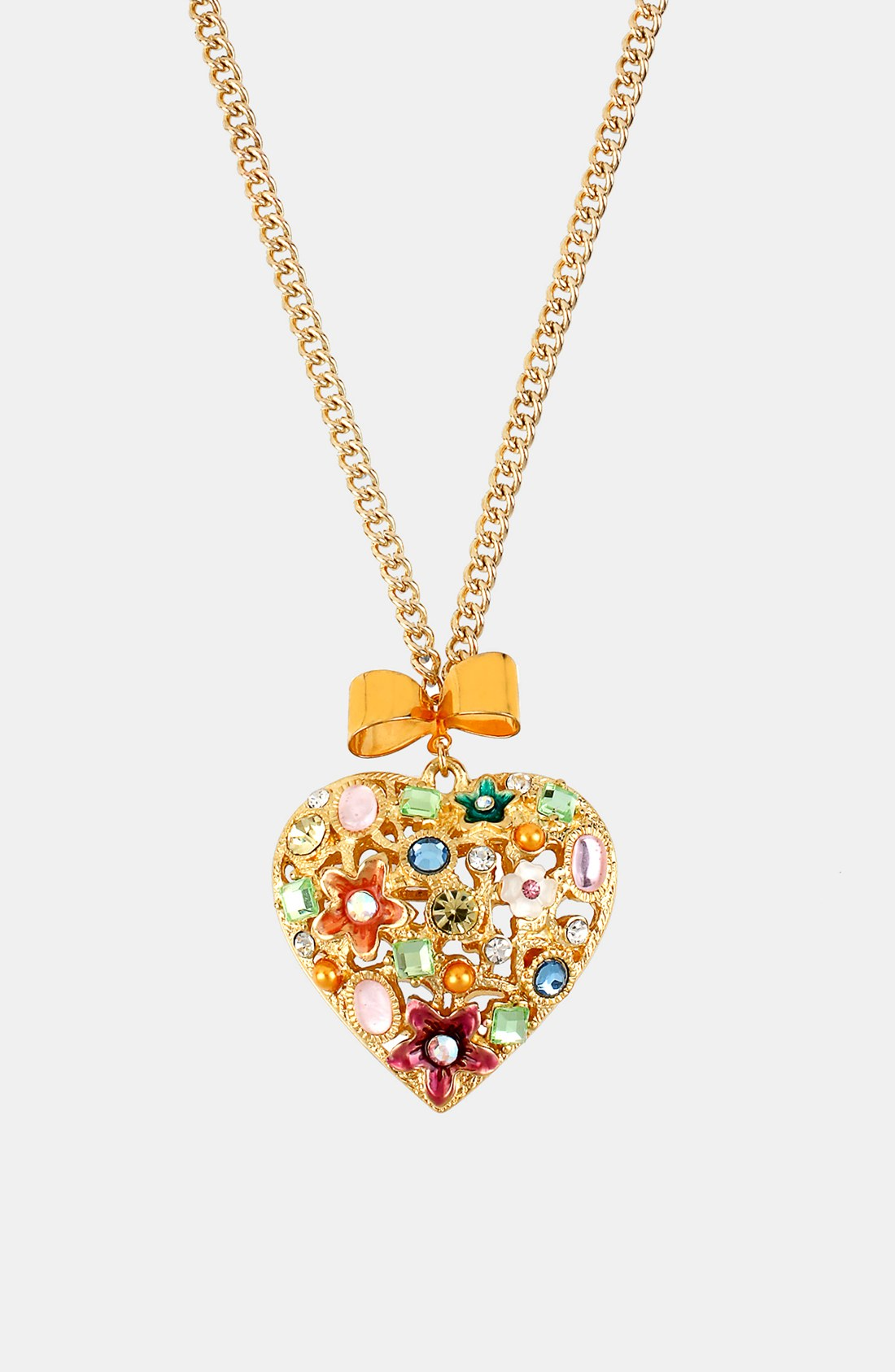 Betsey Johnson Fairyland Heart Pendant Necklace in Gold ...
