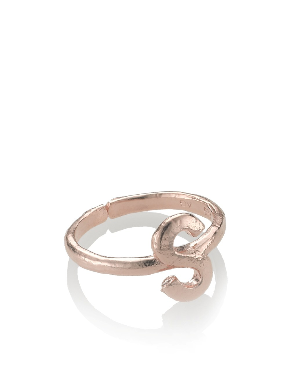 bjorg gold alphabet rings s z in pink lyst