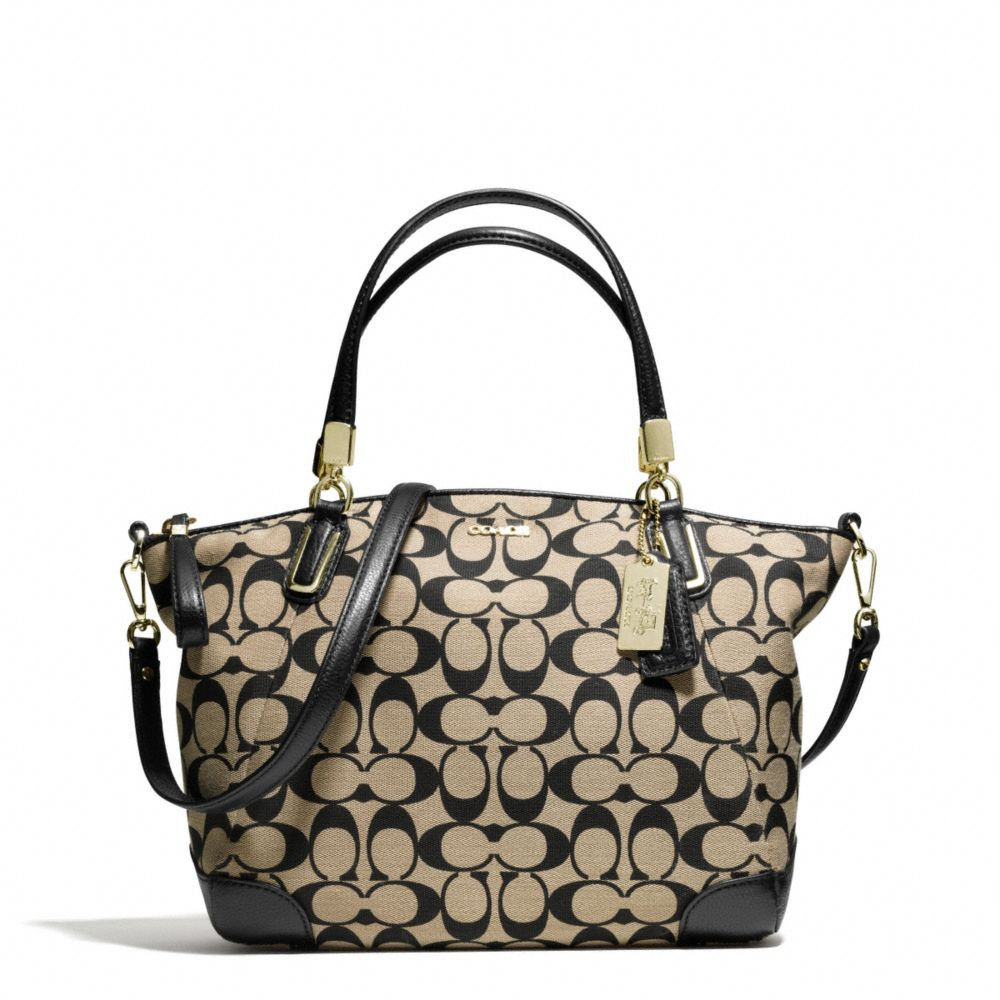c4ac54926bb3a ... where can i buy lyst coach madison small kelsey satchel in printed  signature 70c46 59cab ...