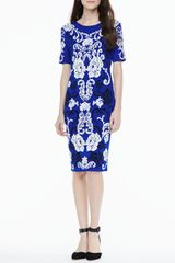 Cynthia Steffe Briella Jacquard Print Dress - Lyst