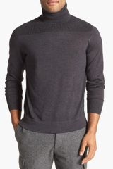 Faconnable Merino Wool Turtleneck Sweater - Lyst