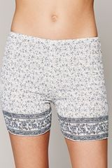 Free People One Smocked Bike Shorts - Lyst