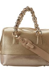 Furla Candy Mini Satchel with Leather - Lyst