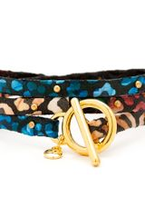 Gorjana & Griffin Graham Flora Leather Studded Wrap - Lyst