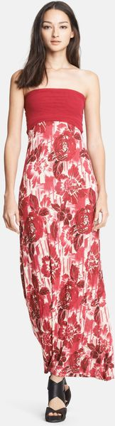 Jean Paul Gaultier Fuzzi Rose Print Convertible Maxi Dress - Lyst