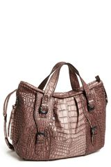 Kooba Paige Croc Embossed Leather Tote - Lyst