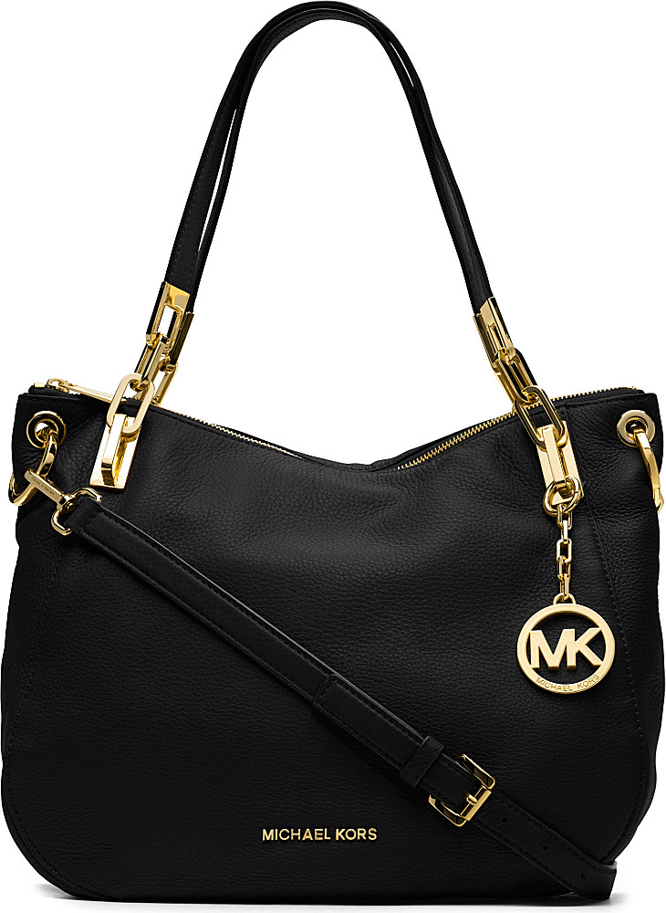 eb2da849e0 MICHAEL Michael Kors Brooke Leather Shoulder Bag in Black - Lyst