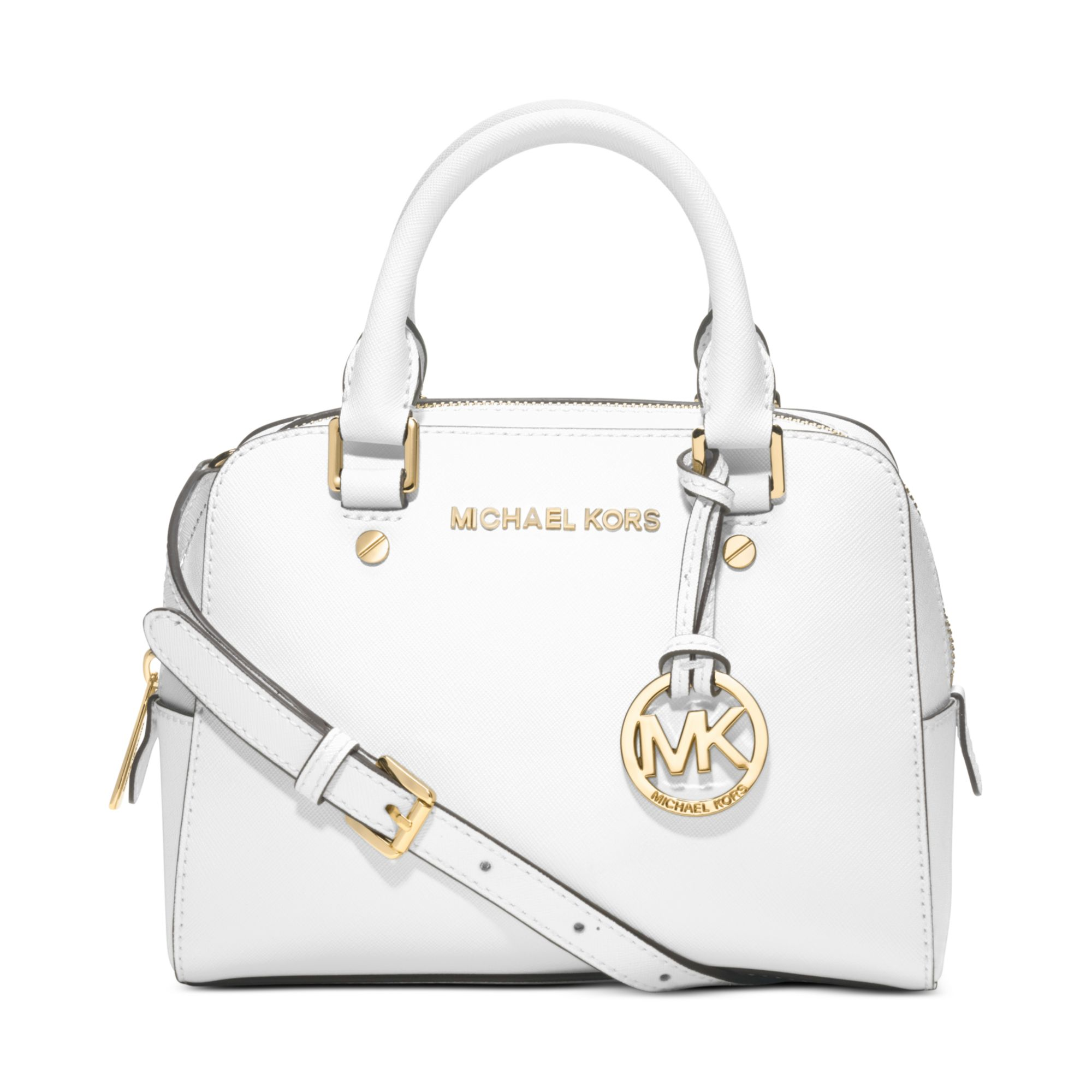 c2a3df846515 ... denmark lyst michael kors jet set small travel satchel in white 0a432  f1821
