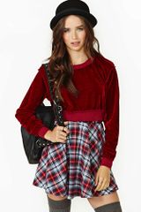 Nasty Gal Kindred Velvet Crop Sweater - Lyst