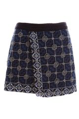 Pull&Bear Skirt with Embroidered Bead Detail - Lyst