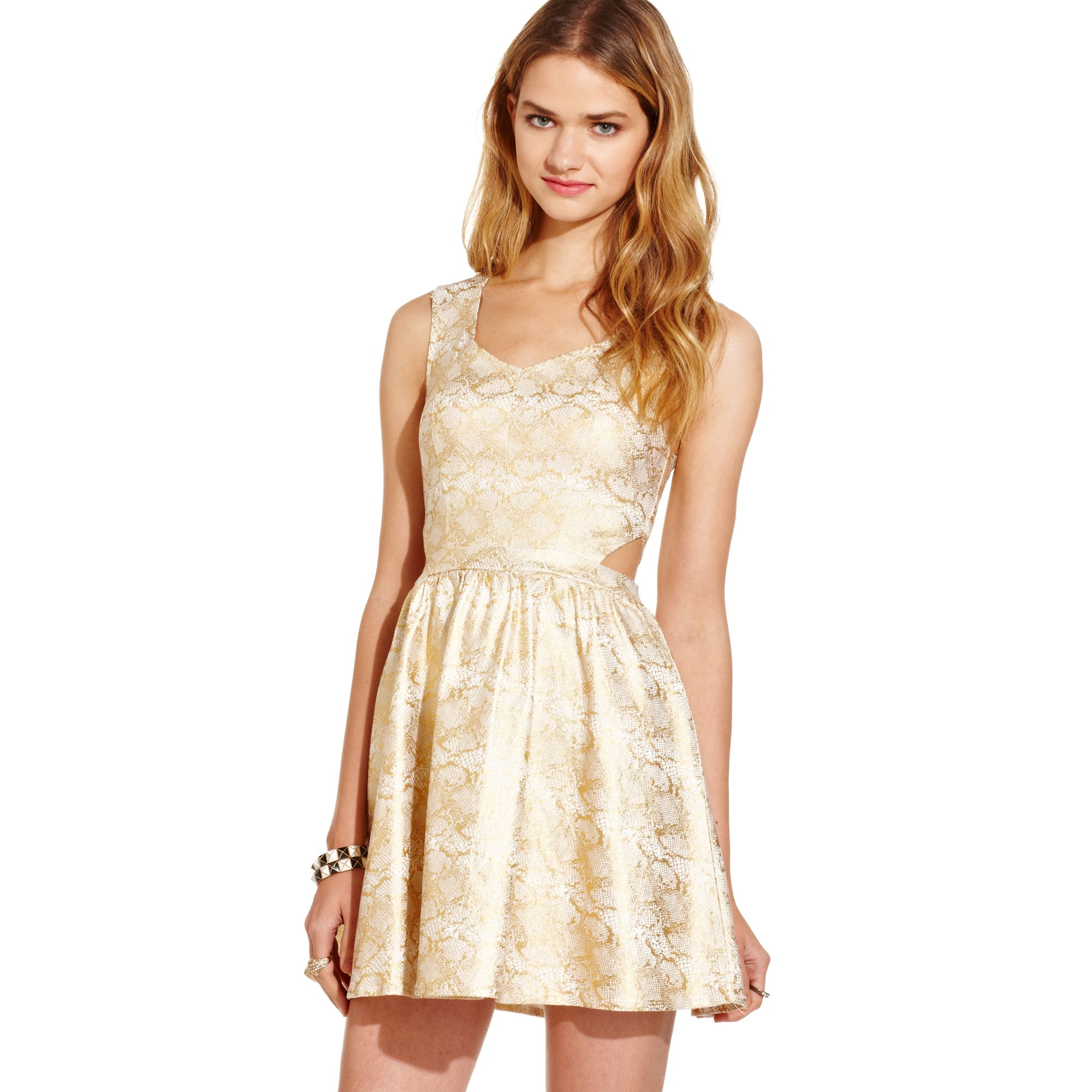 Lyst Macy S Dress In Natural