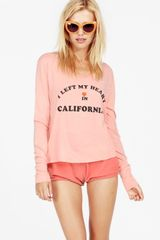 Wildfox Couture My Hearts in California Lazy Weekend Long Sleeve T - Lyst
