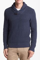 1901 Textured Shawl Collar Sweater - Lyst
