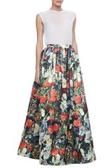 Alice + Olivia Tina Floral Ball Gown Skirt Alice Olivia - Lyst