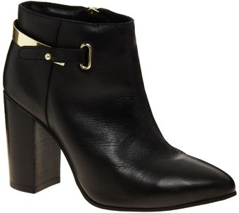 Asos Adios Leather Point Ankle Boots - Lyst