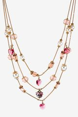 Betsey Johnson Iconic Pinkalicious Multistrand Necklace - Lyst
