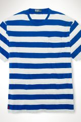 Big & Tall Striped Jersey Pocket Tshirt - Lyst