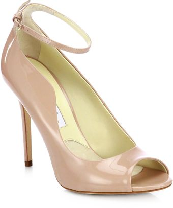 Brian Atwood Myrta Patent Leather Peep Toe Pumps - Lyst