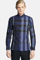 Burberry Pulbury Tailored Fit Check Shirt - Lyst