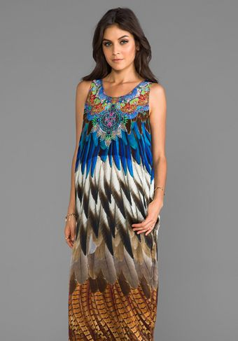 Camilla At Talons Length Long Column Dress in Teal - Lyst